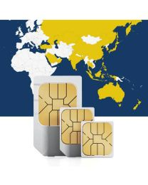Asian SIM card for use in 25 countries with fast mobile date