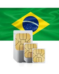 Brazilian flag, sim card used in Brazil