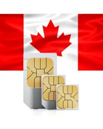 Canadian flag data sim card for use in Canada