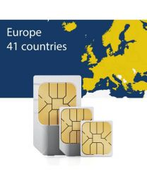 Sim card for forty-one European countries for fast mobile internet