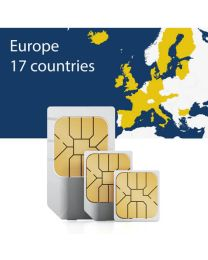 Sim card for seventeen European countries for fast mobile internet
