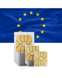 European flag, SIM card used in Europe, the European Union and Switzerland.