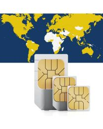 Global data SIM card for worldwide use in 100 countries