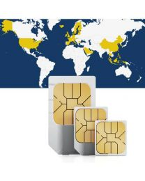 Global SIM card for worldwide use in 33 countries