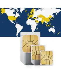 Global SIM card for worldwide use in 46 countries