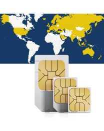 Global data SIM card for use in 63 countries worldwide