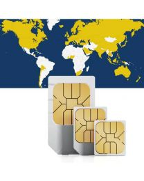Global data SIM card for worldwide use in 87 countries
