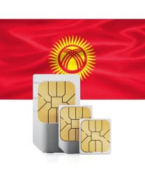 Kyrgyzstan flag data sim map for use in Kyrgyzstan