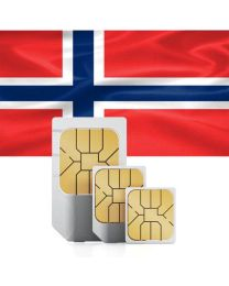 Norwegian national flag Sim card for use in Norway