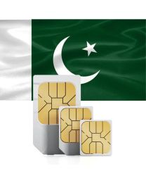 Pakistani flag data Sim card for use in Pakistan