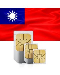 Taiwan flag data sim card for use in the Republic of China Taiwan