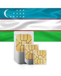 Uzbek flag data Sim card for use in Uzbekistan
