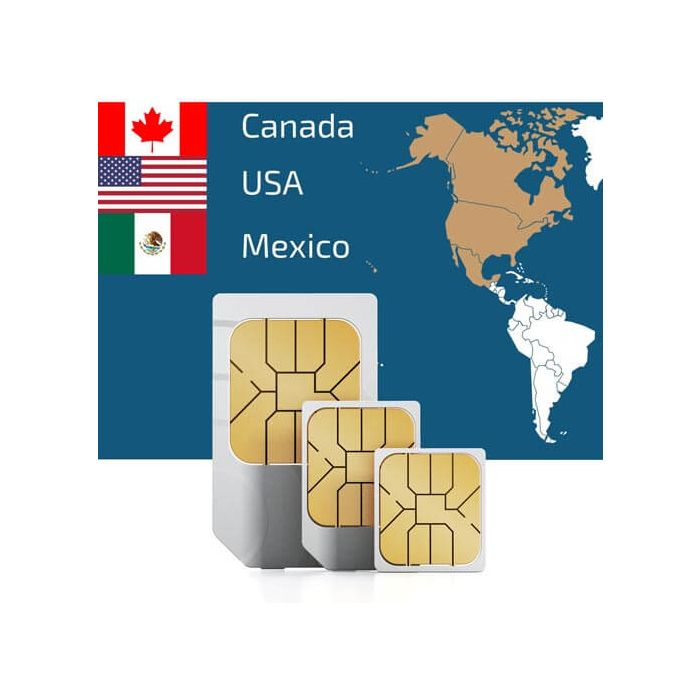 Sim Card For North America Canada Usa Mexico